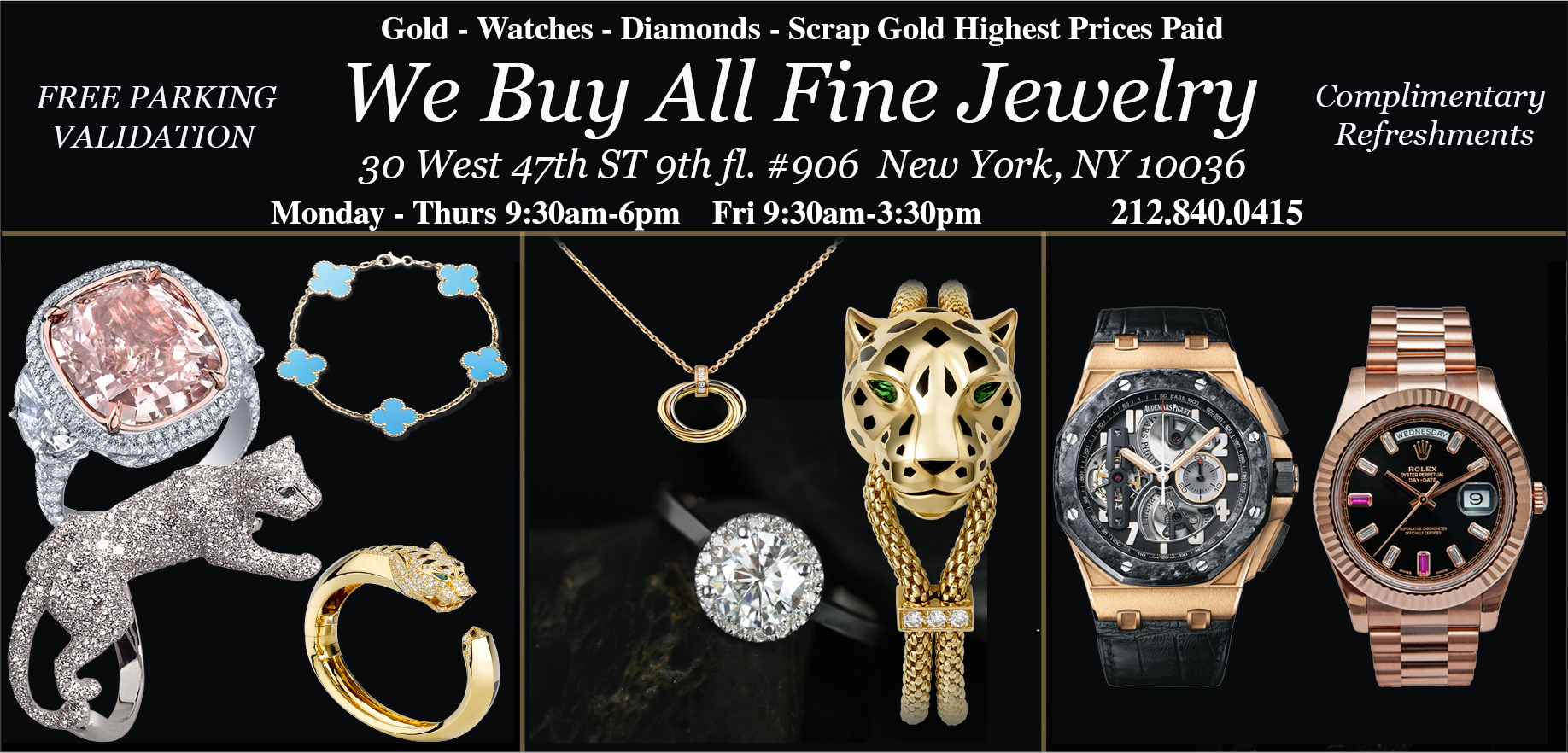 Sell Gold NYC We Buy Gold Diamonds Watches Jewelry